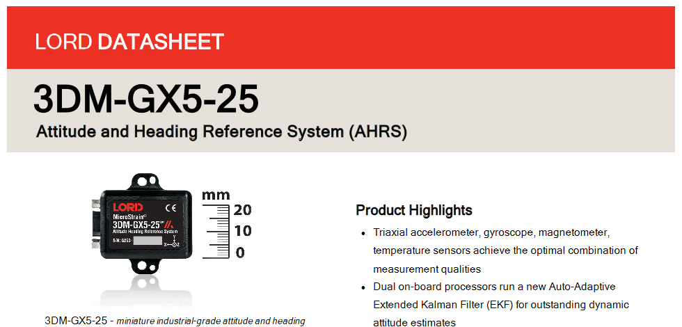Announcing the release of our new GX5-25 AHRS inertial sensor