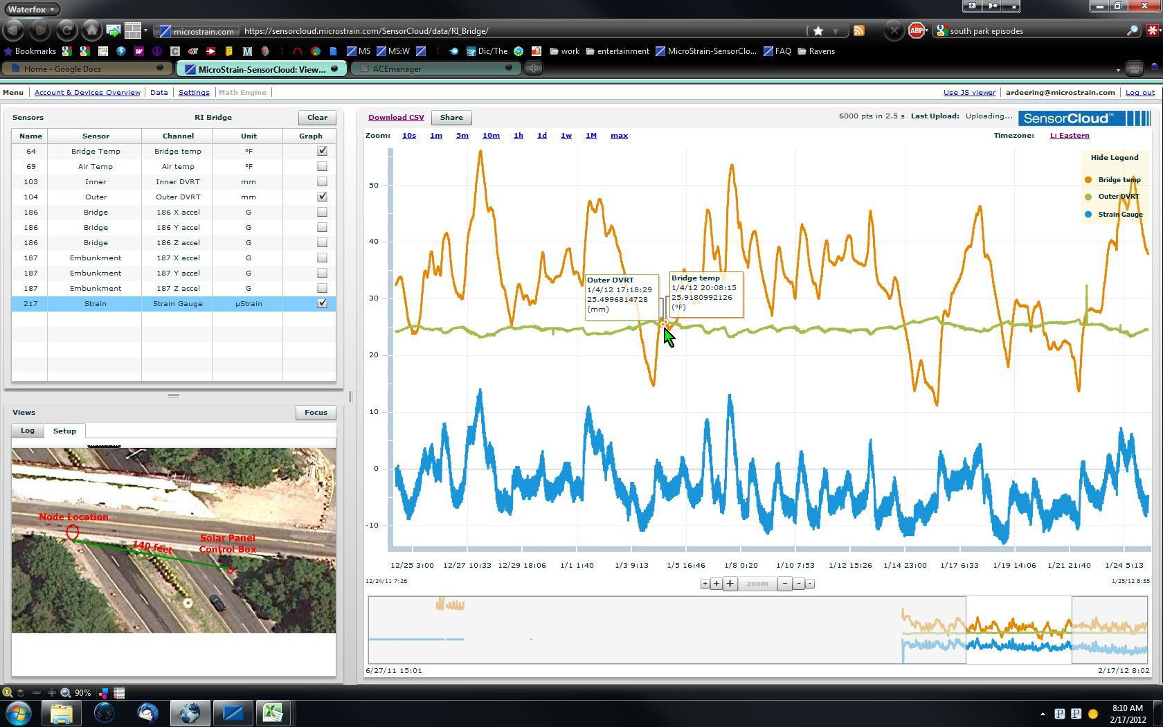 Wireless Bridge Structural Health Monitoring Lord