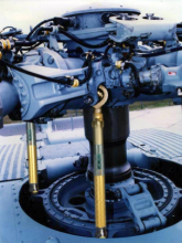 Energy Harvesting Wireless Sensors for Helicopter Damage Tracking
