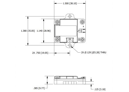G-Link-200-OEM - dimensions with optional mounting plate