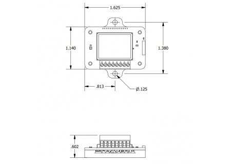 TC-Link-200-OEM - dimensions with optional mounting plate